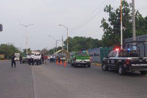 Tránsito implementa operativo para evitar acceso de vehículos foráneos a Papantla y Poza Rica