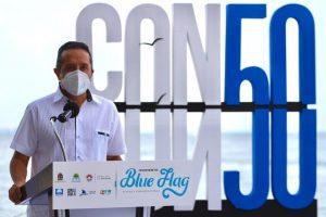 Banderas Blue Flag en el Caribe Mexicano brindan confiabilidad a los turistas: Carlos Joaquín