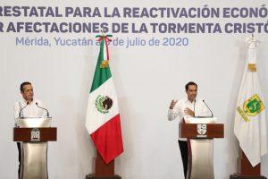Yucatán y Quintana Roo suman esfuerzos para salir adelante ante las afectaciones por las tormentas