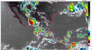 Se pronostican lluvias muy fuertes en Chiapas, Guerrero, Oaxaca y lluvias fuertes en Colima, Jalisco, Michoacán, Veracruz y Yucatán