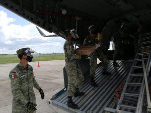SEDENA envía a Yucatán 1 tonelada de insumos médicos