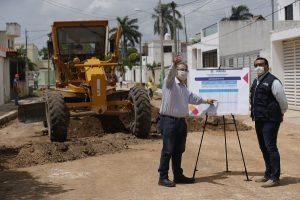 Da el banderazo, Renán Barrera, a obras de pavimentación en la colonia Nuevo Yucatán