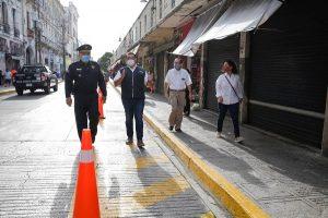 Ayuntamiento de Mérida favorece el tránsito de peatones y el respeto a la sana distancia