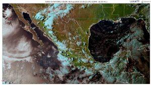 Se pronostican lluvias intensas, para esta noche, en zonas de Campeche, Chiapas, Oaxaca y Tabasco