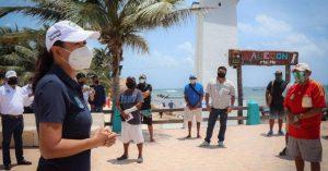 Destaca Laura Fernández compromiso de náuticos en reactivación económica en Puerto Morelos