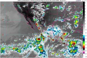 Se pronostican lluvias intensas con descargas eléctricas en Jalisco, Nayarit y Sinaloa, debido a la tormenta tropical Elida