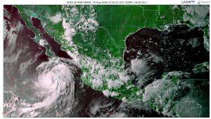 Elida, huracán de categoría 1, provocará lluvias fuertes en Baja California Sur, Colima, Jalisco, Nayarit y Sinaloa