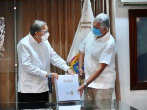 El Gobernador de Campeche, Carlos Miguel Aysa González entrega Quinto Informe de Gobierno al Poder Legislativo