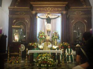Este domingo y a puertas cerradas, bajarán al Cristo Negro de San Román en Campeche