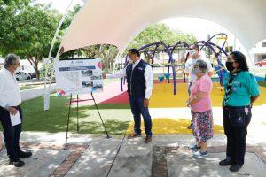 Mérida cuenta con mejores espacios públicos gracias al apoyo y participación de la ciudadanía: Renán Barrera