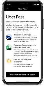 Uber Pass llega a México, la membresía para obtener descuentos en viajes y comidas