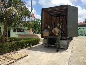 Arriban material e insumos médicos para los hospitales COVID-19 de la SEDENA en Yucatán