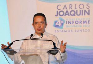 Quintana Roo seguirá siendo la tierra de la esperanza y las oportunidades: Carlos Joaquín