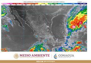 Gamma ocasionará esta noche lluvias muy fuertes en Campeche, Chiapas, Quintana Roo, Tabasco y Yucatán