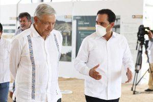 El gobernador Mauricio Vila pide a AMLO apoyo para ayudar a los yucatecos afectados por los fenómenos naturales