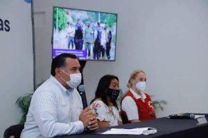 El alcalde de Merida, Renán Barrera, ofrece un balance de la situación actual y las medidas tomadas ante inundaciones