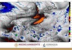 Se prevén lluvias puntuales muy fuertes para Chiapas, Oaxaca, Quintana Roo y Veracruz
