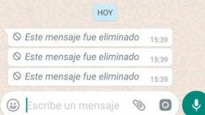 Conoce como puedes leer los mensajes eliminados en WhatsApp