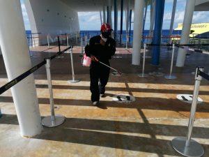 Terminales marítimas de APIQROO no bajan la guardia ante la contingencia sanitaria