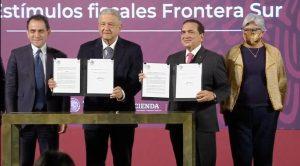 Firman decreto para otorgar estímulos fiscales a la Frontera Sur en Chiapas, Tabasco, Campeche y Quintana Roo, a partir de enero del 2021