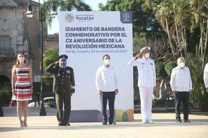 El gobernador Mauricio Vila encabeza en Yucatán ceremonia cívica por el 110 aniversario del inicio de la Revolución Social Mexicana