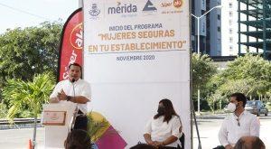 """El alcalde Renán Barrera pone en marcha el programa """"Mujeres Seguras en tu Establecimiento"""""""