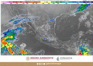 Se pronostican lluvias fuertes en Chiapas y descenso de temperatura en estados de la Mesa del Norte