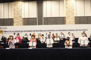 Firma el gobernador Mauricio Vila y Ayuntamientos acuerdo para fortalecer el combate a la violencia contra las mujeres
