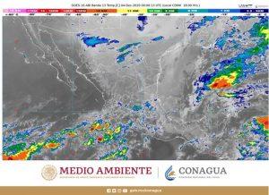 Se pronostican lluvias intensas para zonas de Campeche, Chiapas y Tabasco