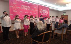 """Rinden protesta los integrantes del Comité Directivo Estatal del partido """"Fuerza por México"""" en Tabasco, rechazan ser """"satélite"""" de MORENA"""