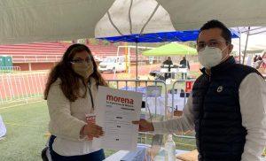 Aspirantes a diputaciones federales de Morena por Tabasco, acuden al preregistro en la Ciudad de México