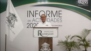 El Rector de Universidad de Quintana Roo Mtro. Francisco López Mena presentó informe de actividades 2020