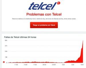 Se cae la red 4G de Telcel