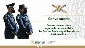 """""""Convocatoria para el ingreso al Servicio de Justicia Militar"""""""