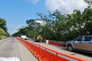 Cierre en autopista Las Choapas – Ocozocoautla por hundimiento en carpeta asfáltica