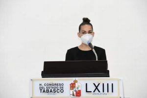 Presenta Ingrid Rosas iniciativa sobre paridad de género en Tabasco