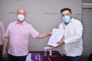 Entrega IEQROO a Tirso Esquivel, constancia como candidato a presidente municipal de Puerto Morelos
