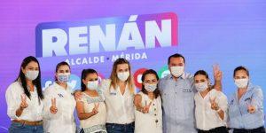 Vamos a trabajar por darle un mejor futuro a los niños, niñas y mujeres de toda Mérida: Renán Barrera