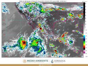 Se mantendrán las lluvias intensas en zonas de Chihuahua, Durango y Sinaloa durante esta noche