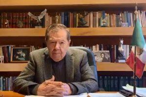 Sánchez Cordero dejó la Segob por «desacuerdos»: Muñoz Ledo