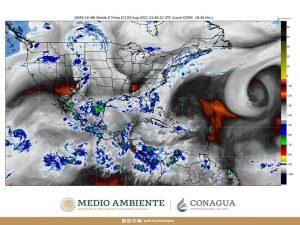 Se prevén lluvias intensas en Chiapas, Durango, Oaxaca y Sinaloa