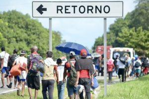 Nueva caravana migrante parte desde Chiapas hacia EEUU