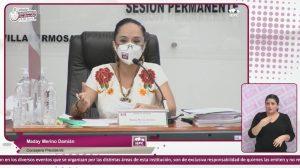 Se despide Maday Merino Damián en la última sesión del consejo del IEPCT a la que asiste