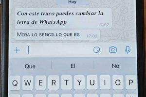 ¿Cómo escribir con diferente letra y estilo los mensajes de WhatsApp?