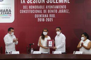 Juntos construiremos la historia de los próximos 50 años de Cancún: Mara