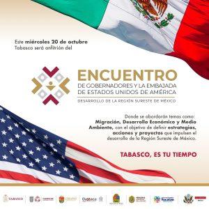 Gobernadores del Sureste se reunirán este miércoles en Tabasco con Kenneth Salazar, embajador de EE.UU