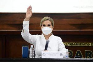 La presidenta municipal Lili Campos, regidores y sindico municipal, dan por iniciadas las actividades del gobierno municipal de Solidaridad