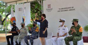 Juanita Alonso encabeza ceremonia conmemorativa del 76 Aniversario de la ONU