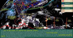 Continuarán las lluvias en toda la Península de Yucatán