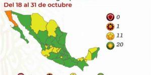 México se pinta de verde en el Semáforo covid